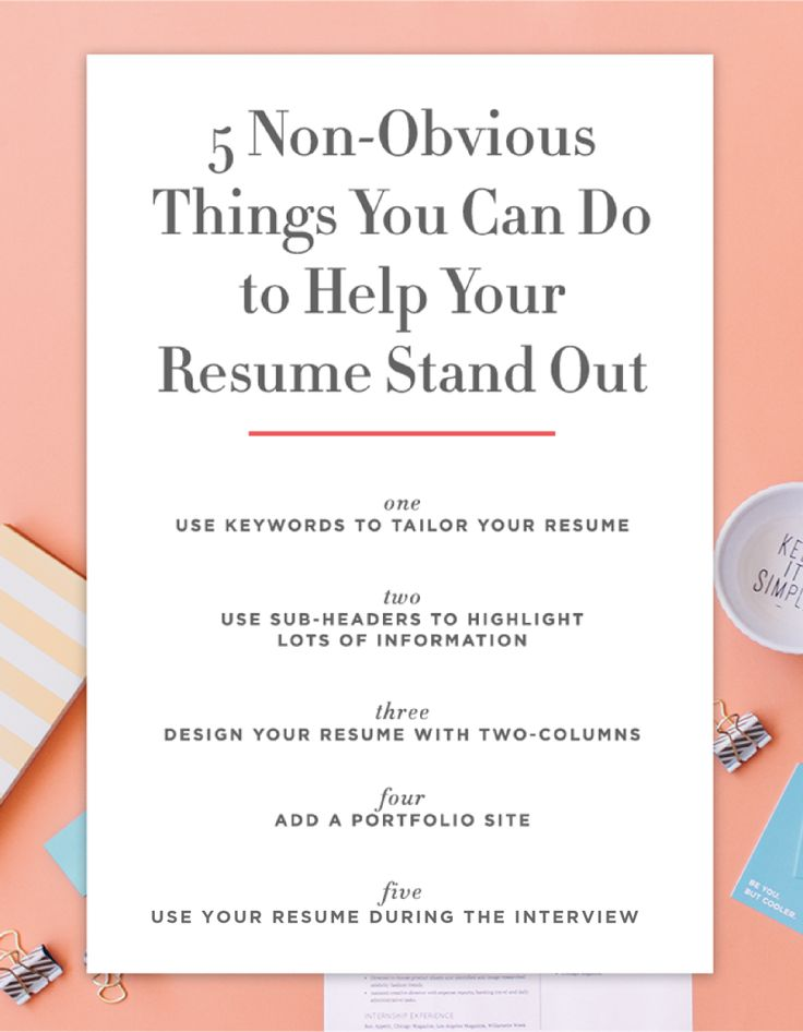what are four things a great résumé shows employers