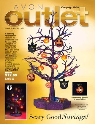 sparkling color changing halloween tree with ornaments 354626 - Halloween Catalogs