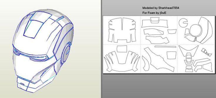 Helmet Man Mark 42 Iron Template