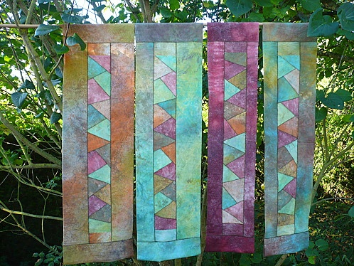 pojagji quilts Love the colors!
