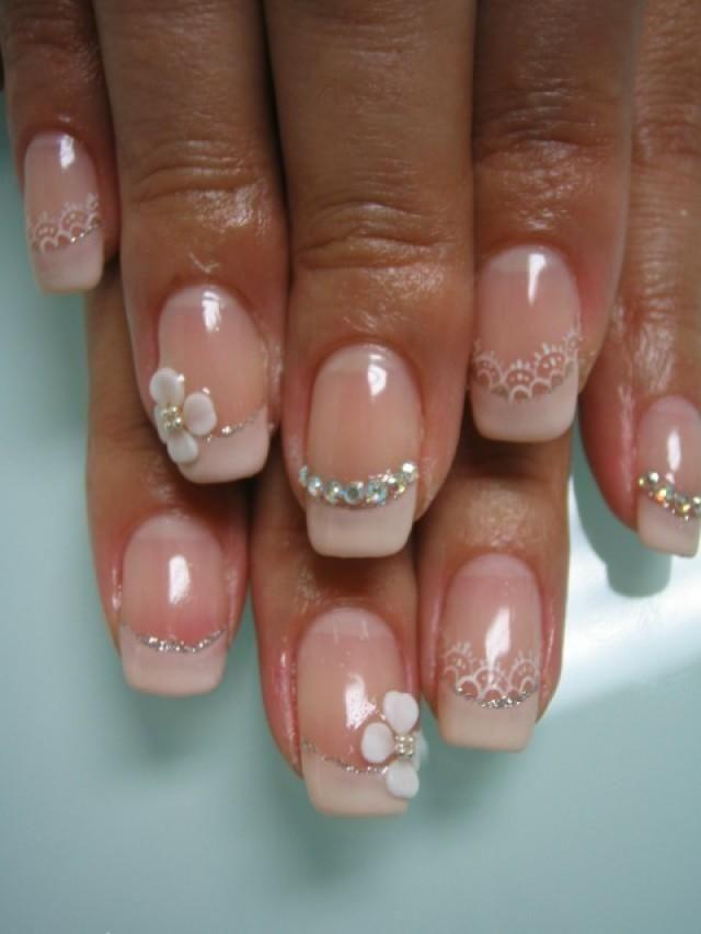 bridal Nail Designs  ... bridal nails design. Acrylic nails or not? : wedding acrylic nails IMG
