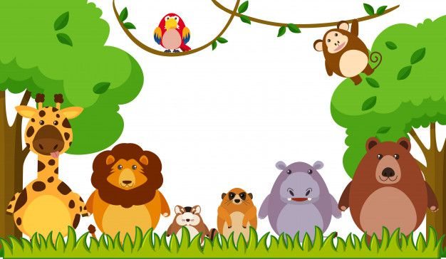 Download Background Template With Wild Animals In Park For Free Wild Animal Park Animals Wild Vector Free