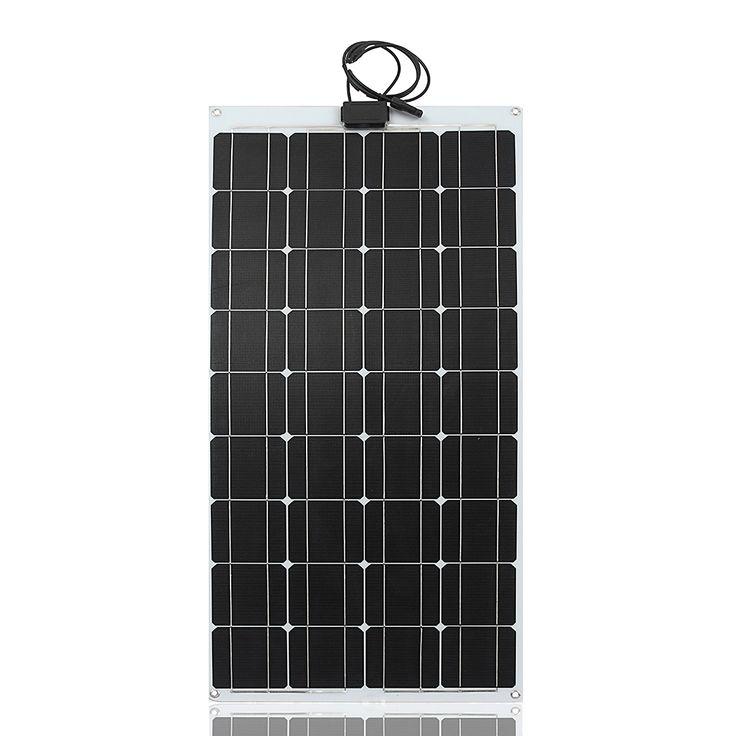 Elfeland® 100W 12V Sun Power ETFT Energy Flexible Solar Panel For Boat Caravan Car