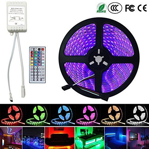 EconoLed 5M 16.4Ft RGB 5050SMD 300LED Waterproof Flexible LED Light Strip lamp + 44Key IR Remote (Supports Max 5 meters of RGB LED flexible strips) US Seller #EconoLed #Waterproof #Flexible #Light #Strip #lamp #Remote #(Supports #meters #flexible #strips) #Seller