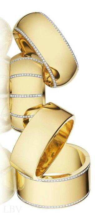 ☆ * Fashion Accessories ☆ * Four Golden Rings w diamonds   LBV ♥✤   BeStayBeautiful
