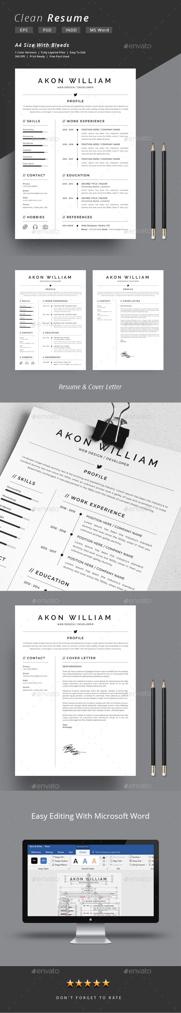 Resume 180 best Resume Templates images on