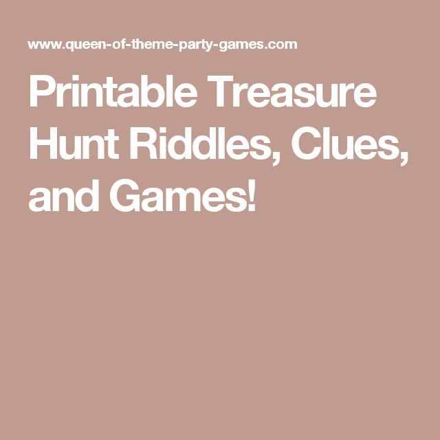 Treasure Hunt Riddles For Adults 87