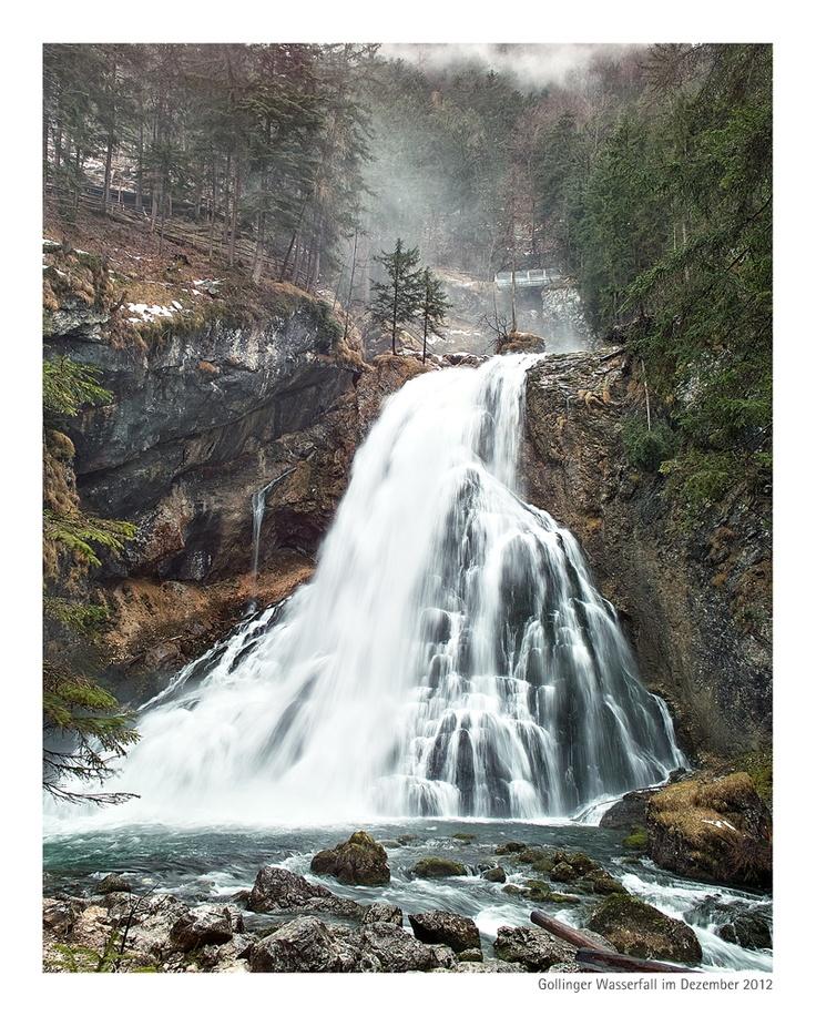"""Beautiful """"Gollinger Wasserfall"""" near Salzburg, Austria"""