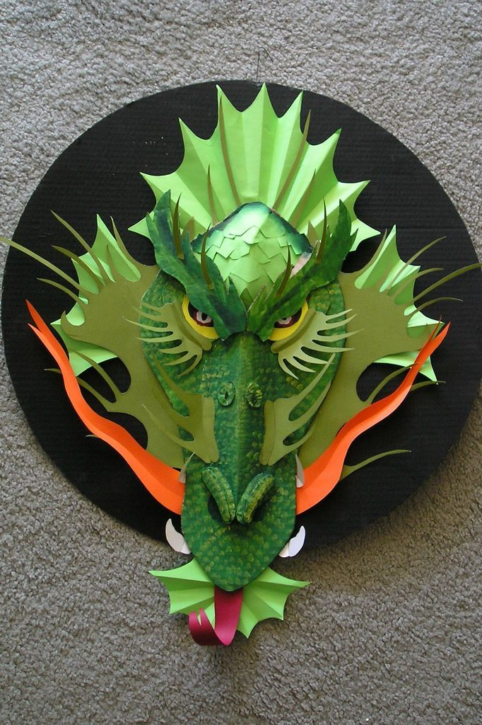 Paper Dragon Templates 3d Crafts