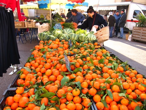 Oranges at Ceret Market