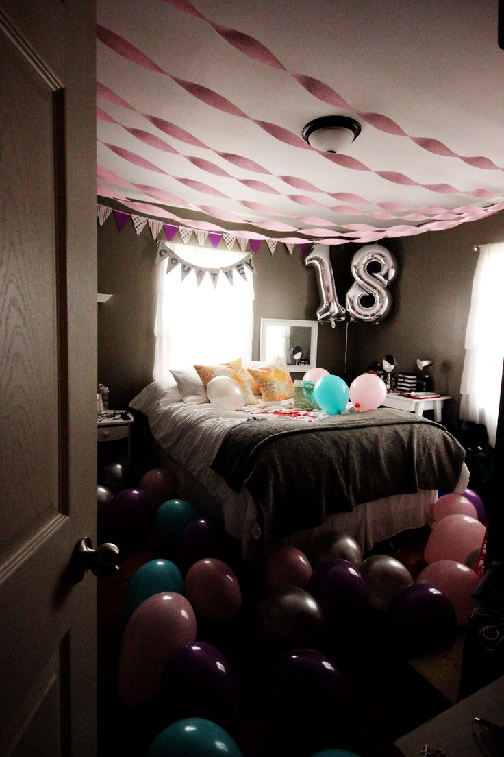 25 best ideas about birthday room surprise on pinterest for Bedroom gifts for her