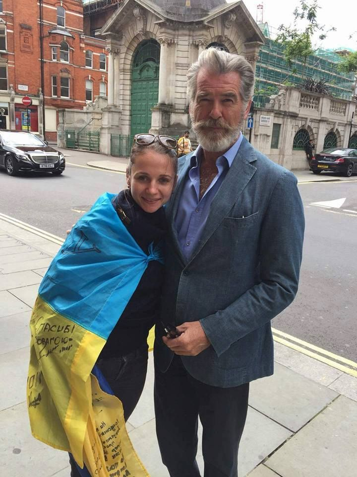 Pierce Brosnan meets with Ukrainian activists in London. 22nd August 2016.