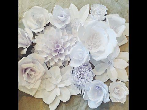 DIY: Große Papierblüten-Wand aus Kopierpapier selber machen | Deko Kitchen - YouTube