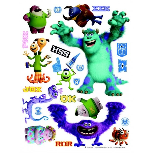 Stickers des personnages de Monstres Academy (Monsters & co Disney)