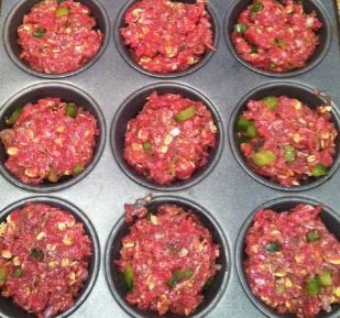 Ingredients:        1 2/3 to 1 3/4 pounds ground sirloin   1 medium onion, cut into chunks   2 ribs celery from the heart of the...