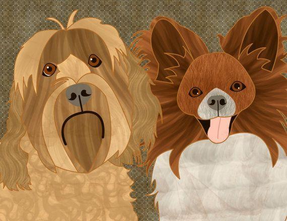 Custom dog portrait custom pet portrait dog by catbrush on Etsy