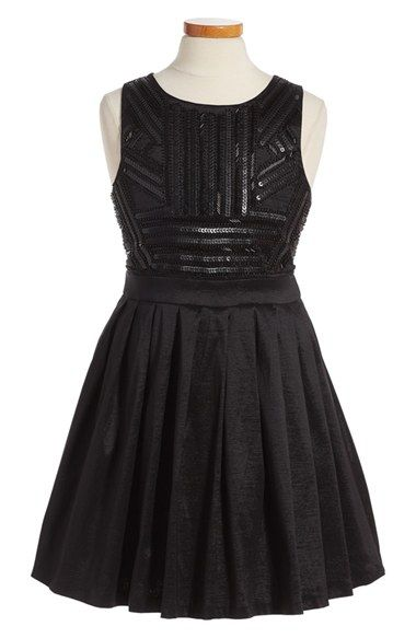 Free shipping and returns on Bardot Junior Sequin Embellished Fit & Flare Dress (Little Girls & Big Girls) at Nordstrom.com. Tonal beads and sequins pattern the sleeveless bodice of a contemporary fit-and-flare dress with a flouncy pleated skirt.
