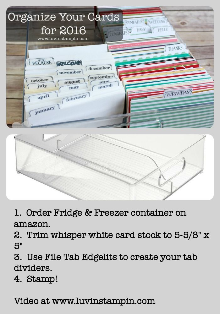 Card Making Room Ideas Part - 47: Organize Your Cards By Pre Addressing Envelopes And Dating Them. Get All  The Instructions In