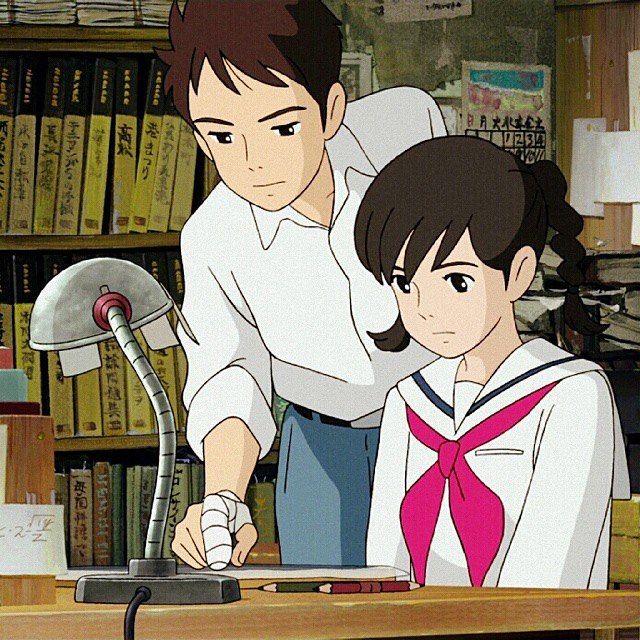 I Love This Scene Fromuponpoppyhill Umi Studioghibli Ghibli For Shinta Laura Anime Fandom Stuff And Alessandra Devasta スタジオジブリ ジブリ かわいい 勉強 イラスト