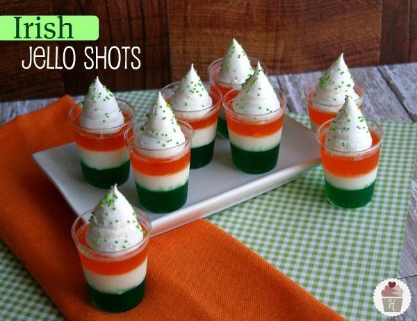 Irish Jello Shots & LOTS of St. Patrick's Day Food #Recipes. For next year maybe??