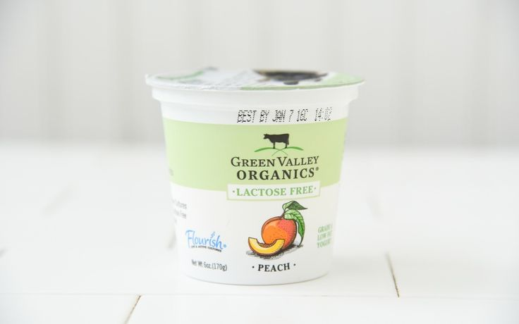 Green Valley Organics Organic Lactose Free Peach Yogurt