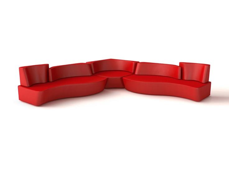 Charming Upholstered Sectional Sofa MUMBLE   Felicerossi Amazing Ideas