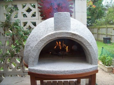 Pizza Oven Easy Build, First Firing - YouTube