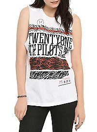 HOTTOPIC.COM - Twenty One Pilots Patterns Girls Muscle Top