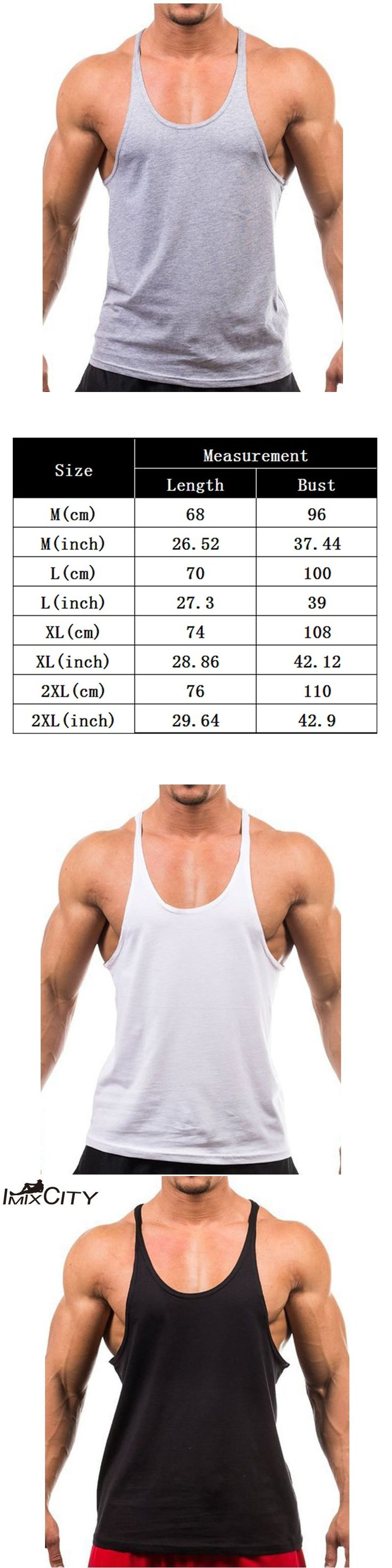 IMIXCITY Men's Vest Basic Solid Bodybuilding Tank Tops Workout Fitness male Cotton Loose T shirt  2017 Fashion