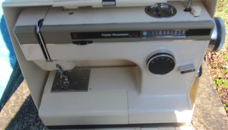 vintage sewing machine Frister Rossman brother motor cased