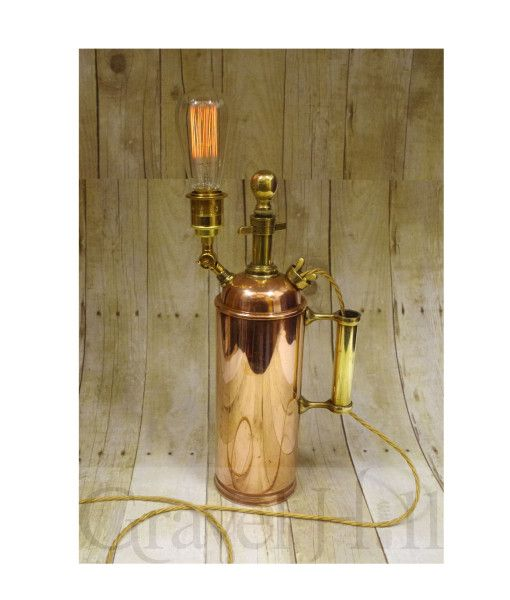'Up-Cycled' Copper Fire Extinguisher Light http://gravelhilllighting.com/product/up-cycled-copper-fire-extinguisher-light/?utm_content=buffer41d31&utm_medium=social&utm_source=pinterest.com&utm_campaign=buffer #design #lighting #lightingdesign #unique #quirky