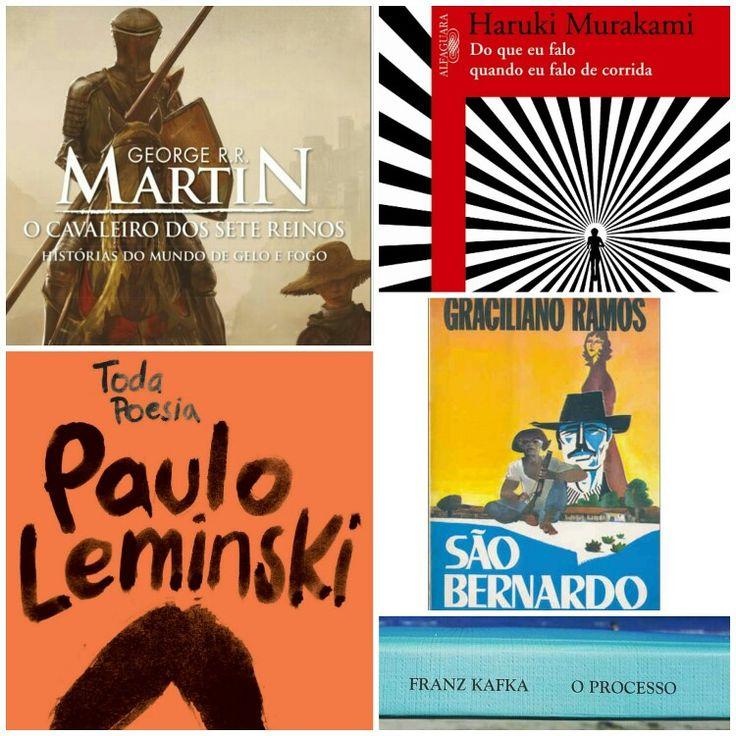 """Minhas Leituras de Fevereiro/2017:  1 - Do que eu falo quando eu falo em corrida de Haruki Murakami;💓🌟🌟🌟🌟🌟 2 - São Bernardo de Graciliano Ramos; 💓🌟🌟🌟🌟🌟 3 - O Processo de Franz Kafka;🌟🌟🌟🌟  4 - O Cavaleiro dos Sete Reinos de George R. R. Martin; 🌟🌟🌟 5 - Toda Poesia de Paulo Leminski; 💓🌟🌟🌟🌟  💓Recomendado; 🌟Avaliação da leitura  Os livros destaques do mês foram """"Do que eufalo quando eu falo de corrida de Haruki Murakami"""" e """"Toda Poesia de Paulo Leminski"""".... Livros que…"""