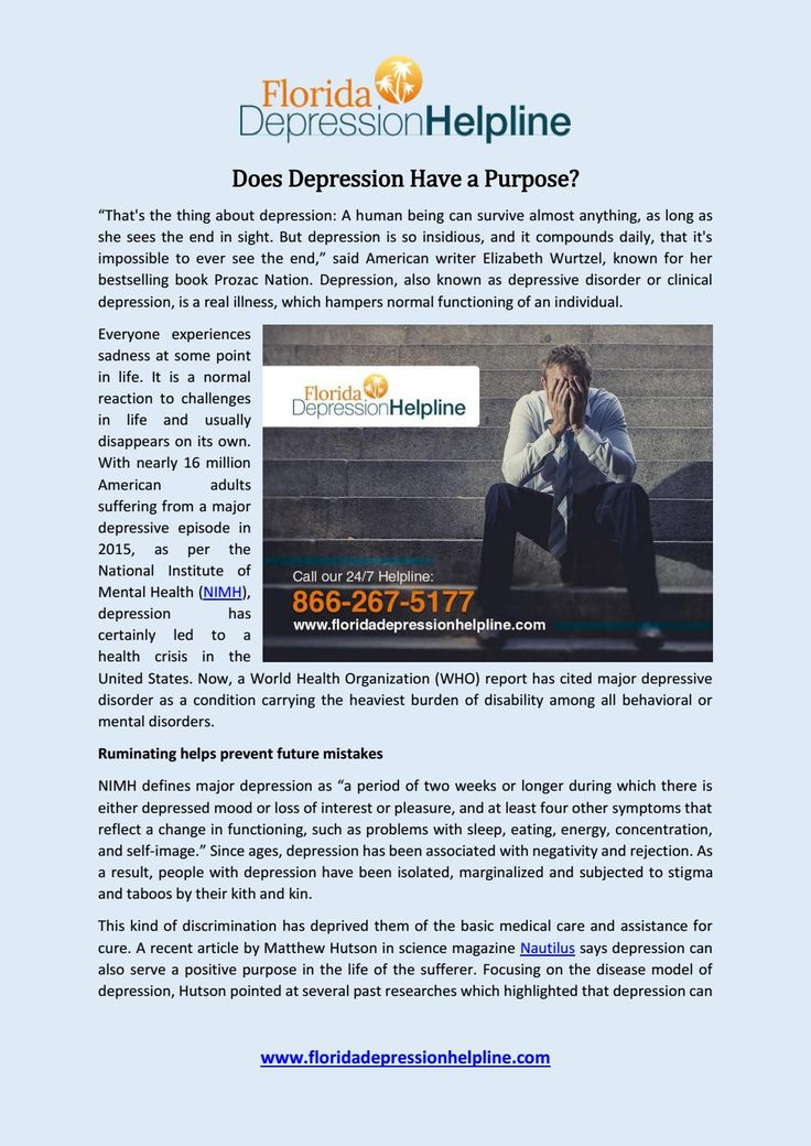 Depression, also known as depressive disorder or clinical depression, is a real illness, which hampers normal functioning of an individual.