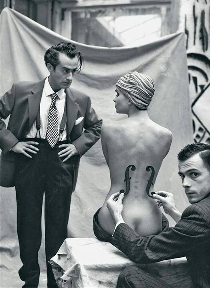 "colin-vian: ""  Mark Arbeit, Man Ray and his model, 1930 """