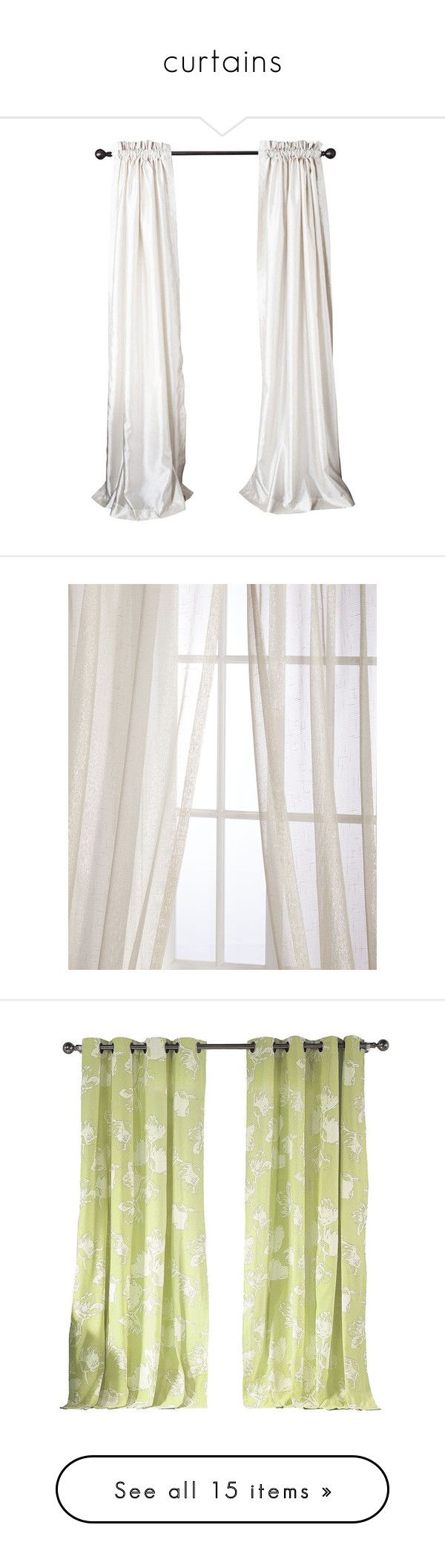 """""""curtains"""" by khloodbarayan ❤ liked on Polyvore featuring home, home decor, window treatments, curtains, faux silk curtains, beige curtain panels, pole top curtains, rod pocket curtains, faux silk window panel and champagne"""