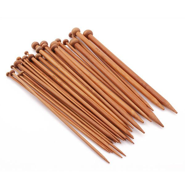 36PCS Carbonized Bamboo Knitting Needles Smooth Crochet Single Pointed 18 Sizes by indianbanglesseller on Etsy https://www.etsy.com/listing/176477518/36pcs-carbonized-bamboo-knitting-needles