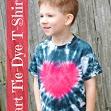 Heart Tie-Dye Shirt {Perfect for Valentine's Day} via @Kara Morehouse Harvey