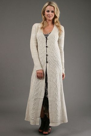 Sweater Duster Long