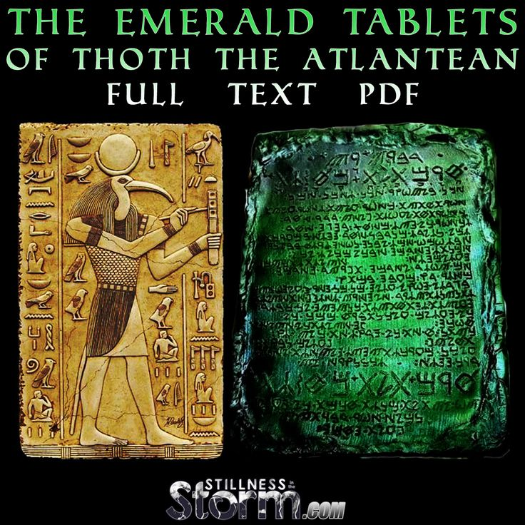 Stillness in the Storm : The Emerald Tablets of Thoth the Atlantean - Full Text Pdf