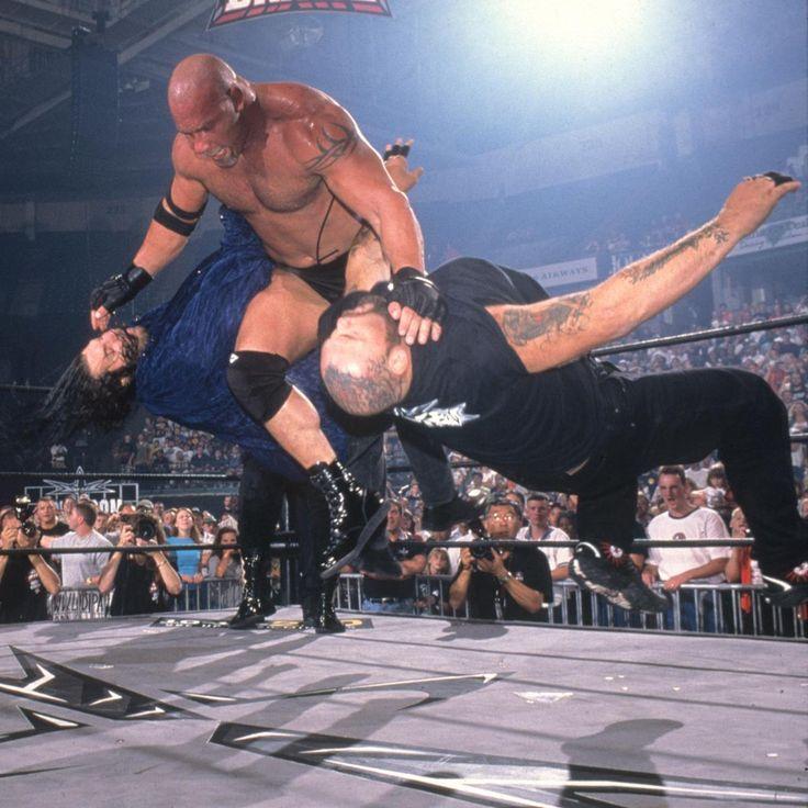 Goldberg hit both Bam Bam Bigelow and Chris Kanyon