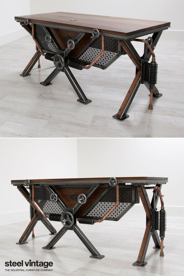 The Steampunk Desk Vintage Industrial Furniture Steampunk