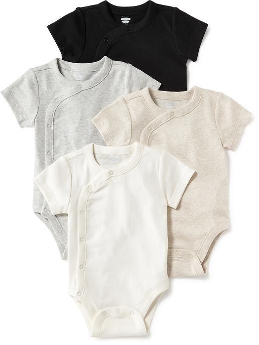 4-Pack Kimono Bodysuit Set for Baby