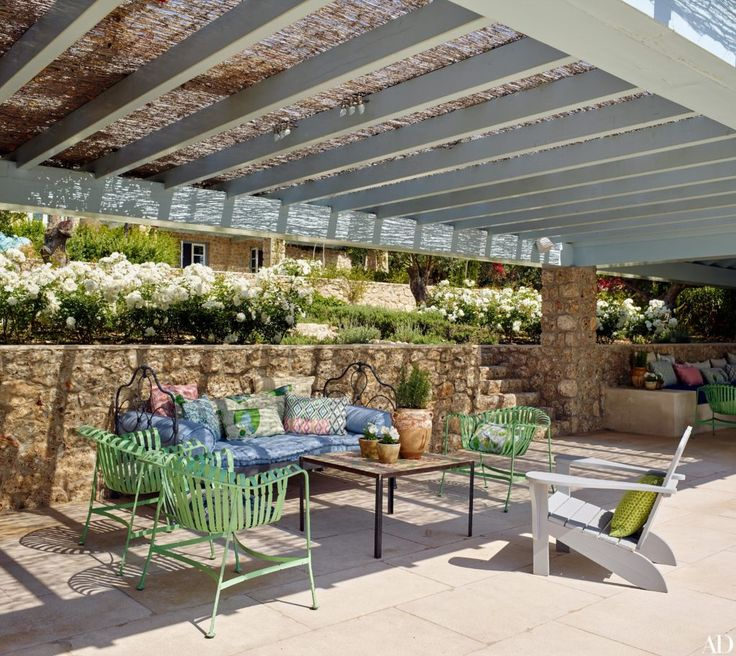 Greek Backyard Designs fabulous patio cover design ideas patio cover design ideas custom patio designs dfw dallas Architect Nikos Moustroufis And Designer Isabel Lpez Quesada Create A Chic Greek Island Compound For An Athens Based Couple And Their Close Knit Family