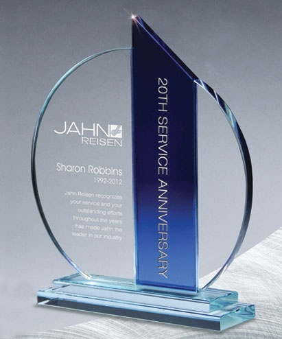 The Atlantis Ellipse Crystal Award is geometrically simple yet a stunning combination of clear and blue crystal. Perfect for achievers from all walks of life.  http://www.edco.com/cat/crystal-awards