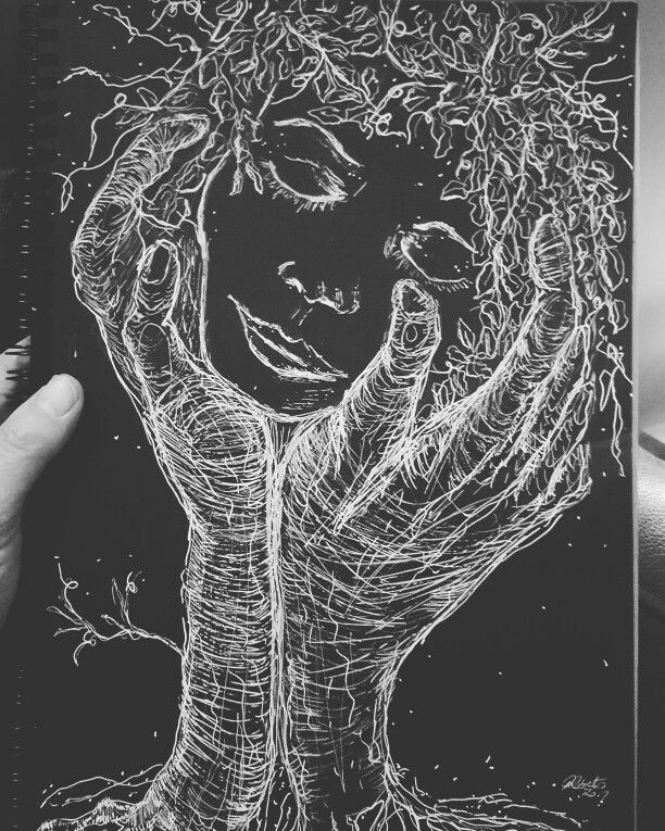 This is often how i feel.... the earths hands...tree roots...holding me calm..easing my mind... keeping me safe...reminding me to breathe relax and rest..... #mindfulness #justbreathe #naturescalm #earthshands #treeroots #naturesketch #treesketch #sketch #signoink #signopen #blacksugarpaper #winson&newton