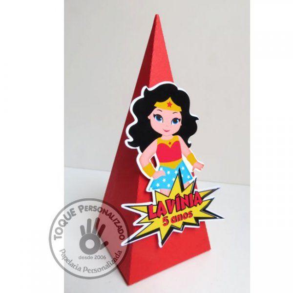 Toque Personalizado - Caixa Pirâmide - Mulher Maravilha