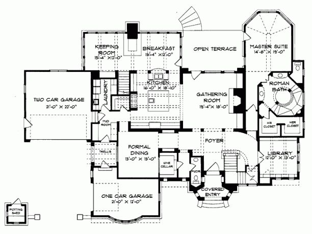 Ornate house plans