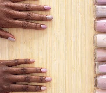 Neutral nail polish shades for very dark skin. Gonna go try this.... Neutral colors show chipping slower