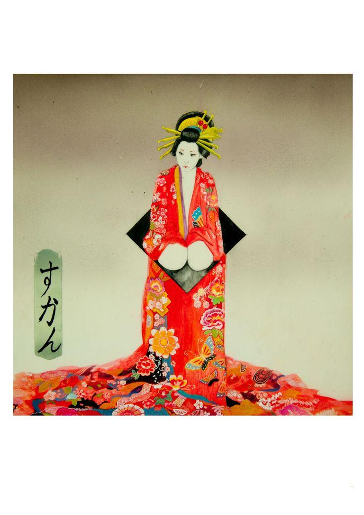 geisha, japanese kimono, Sukan