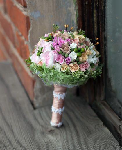 Свадебный букет Феерия роз. Handmade.
